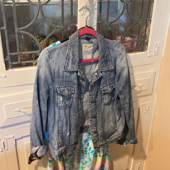 J Crew denim jacket (DISTRESSED)